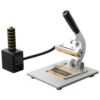Небольшая Ручная настольная машина для быстрой смены логотипа ABC Bronzing, эффективная тиснение логотипа на кожаном ремешке, горячий пресс