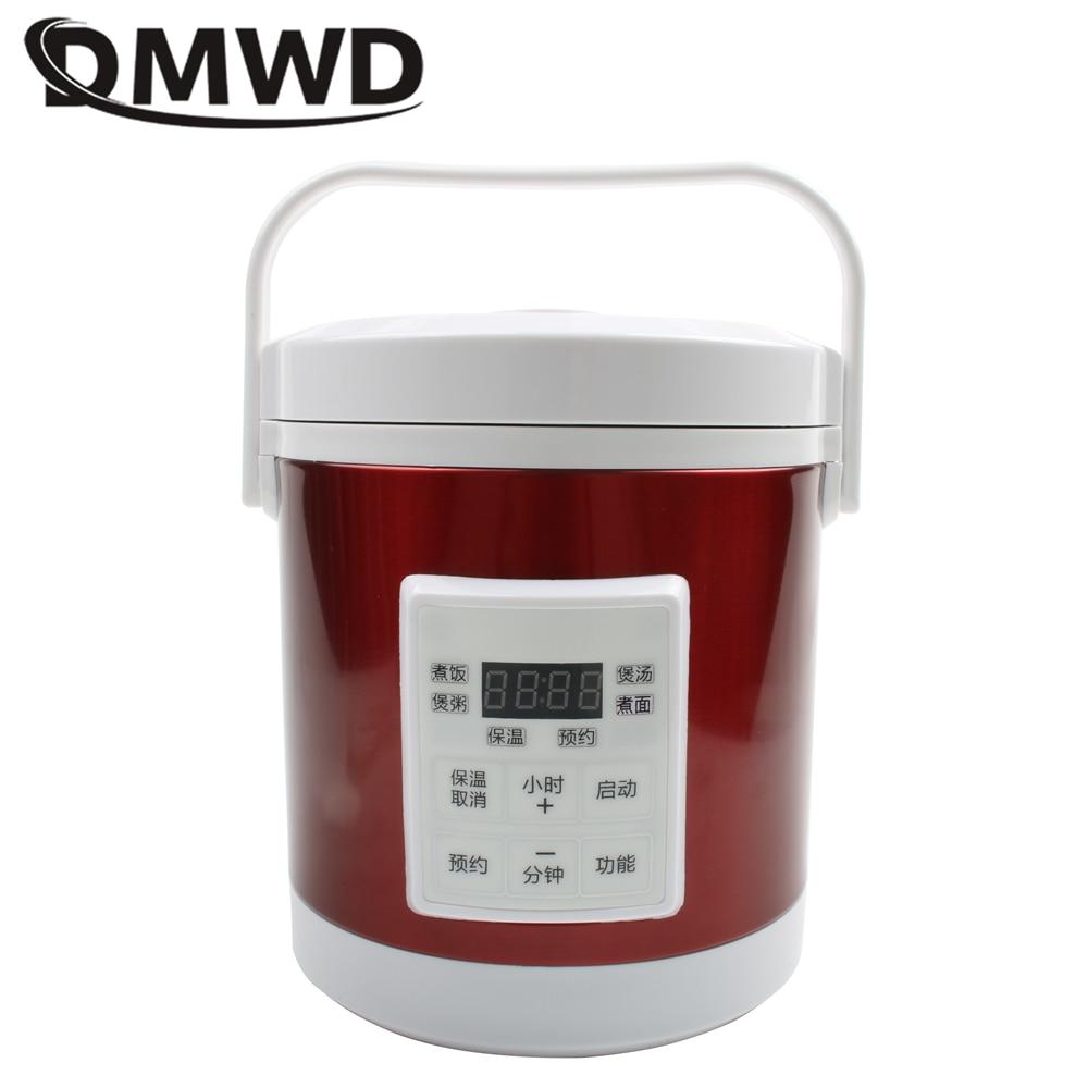 DMWD 12V 24V mini fornello di riso 1.6L auto camion elettrico zuppa di polenta cibo cucina macchina a vapore caldo veloce scatola di pranzo del riscaldamento