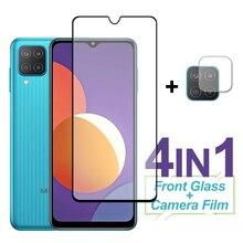 กระจกนิรภัยสำหรับ Samsung Galaxy M12 M42 A12 Nacho A32 A42 A52 A72หน้าจอป้องกันเลนส์สำหรับ samsung M12