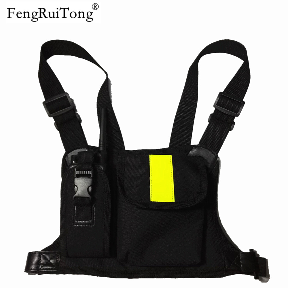 Walkie Talkie Chest Pocket Pack Backpack Handset Radio Holder Bag For GP340 CP04 BF UV-5R 888S Two Way Radios Carry Case