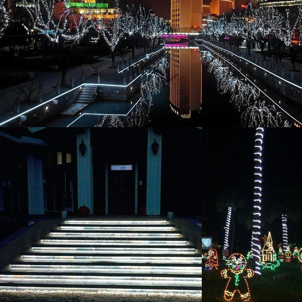 Bande lumineuse étanche, 60 220 s/m, ruban 5050 avec prise d'alimentation européenne, 1M/2M/3M/5M/6M/8M/9M, LED V LED ruban LED/10M/15M 4