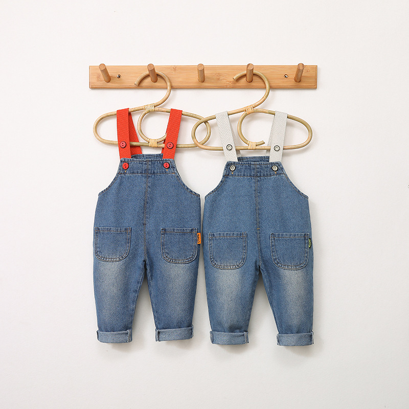 2020  Child Jumpsuits Korean Fashion Jeans Kids Overalls Spring Autumn Casual Jumpsuit for Girl Boy Denim Pants Toddler Overalls