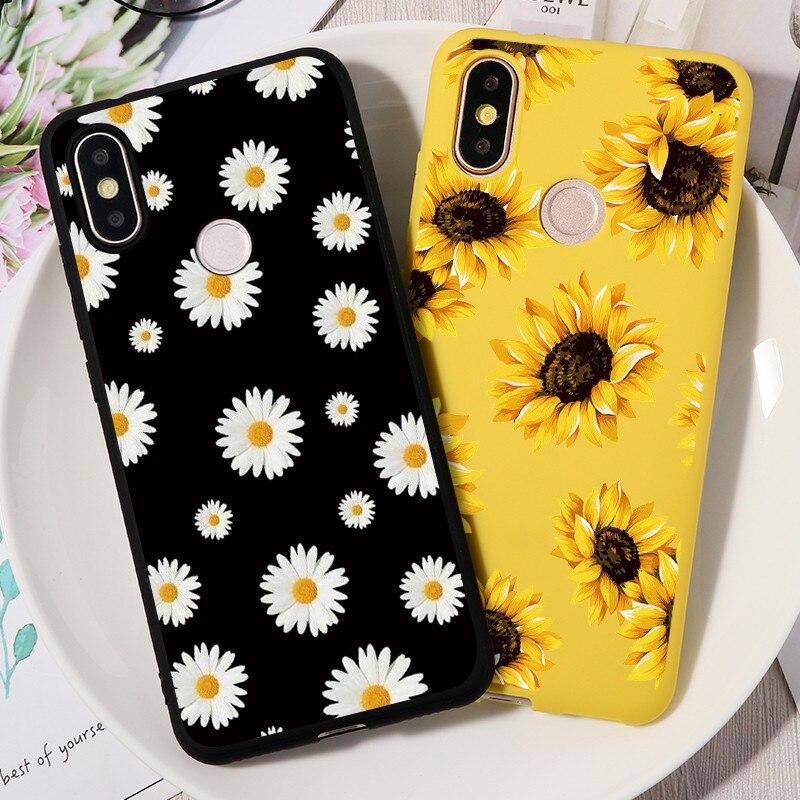 Daisy Sunflower Floral Case For Xiaomi Redmi Note 8 8T 7 S2 6 5 10X K30 K20 Pro Plus 7A 8A TPU Case For Redmi Note 9 9s Pro Max(China)