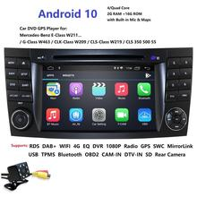 HD 1024*600 Touch Screen Car DVD Player for mercedes w211 Android 10 multimedia W209 W219 4G WIFI Radio Stereo GPS DVR RDS DAB+