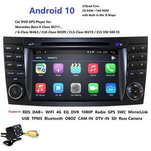 Image 1 - HD 1024*600 lecteur DVD de voiture à écran tactile pour mercedes w211 Android 10 multimédia W209 W219 4G WIFI Radio stéréo GPS DVR RDS DAB +
