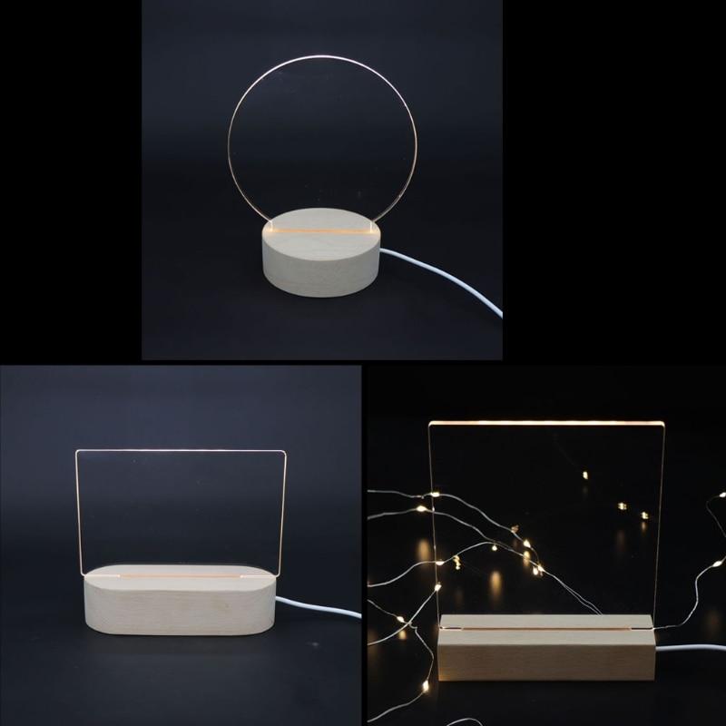 Ручной работы, 3D акриловая резьба, дерево, светодиодный дисплей, база, теплый ночной Светильник, ed основа, хрустальное искусство, стекло, сде...