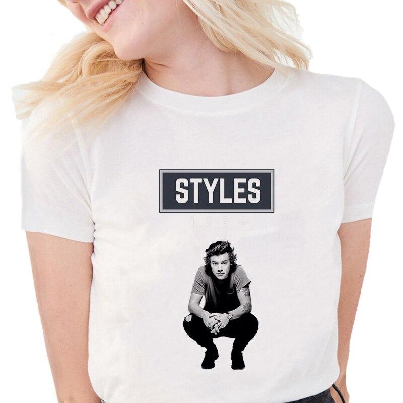Girls Rock T Shirts Harajuku T-Shirt Streetwear Punk Women's Short Sleeve O Neck Casual T-shirt Harry Style Female Tshirt Tumblr