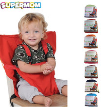 Baby Portable Seat Kids Chair Travel Foldable Washable Infant Dining High Dinning Cover Seat Safety Belt Feeding High Chair(China)