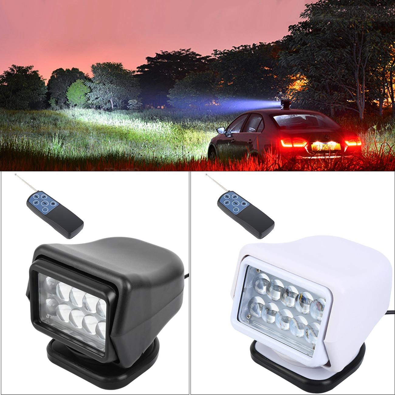 Samger 360 ° télécommande voiture recherche lumière 12V LED Worklight Camping lampe Base magnétique pour bateaux voiture véhicule hors route 1 pièces