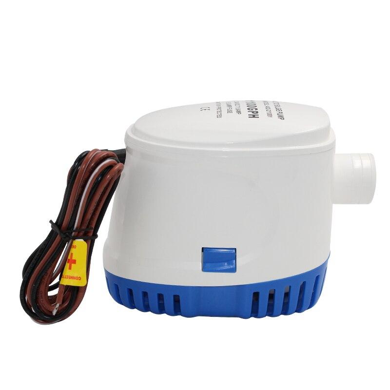 Pompe à eau de cale de bateau Submesible automatique DC 12 V/24 v 750GPH Auto avec interrupteur à flotteur
