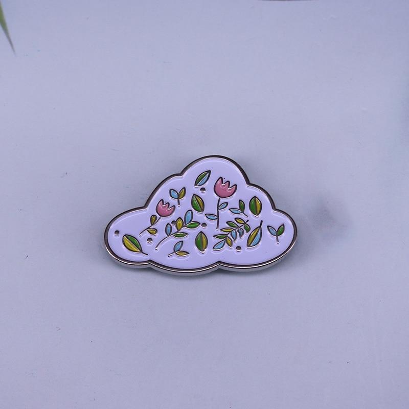 Flor nuvem broche pino trazer uma pequena flor cheia de felicidade para o seu dia