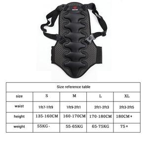 Image 4 - 2019 kayak spor geri yelek koruma yeni çıkarılabilir kayak vücut zırhı Backpiece arka koruyucu koruyucu vücut omurga siyah
