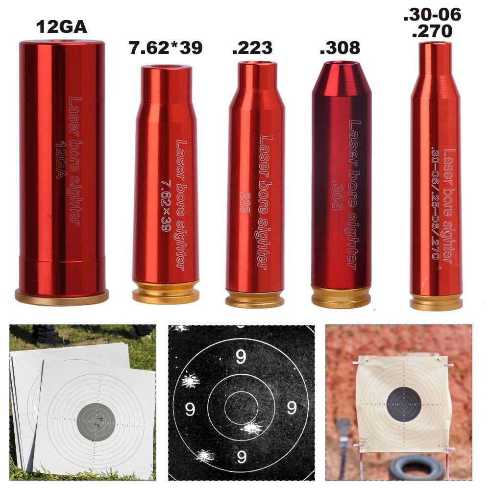 (Без батарей) охотничий лазер с красной точкой 12 20 Калибр 5,45 × 39 7,62 × 54 картридж прицел для отверстий 12GA Лазерный коллиматор прицел