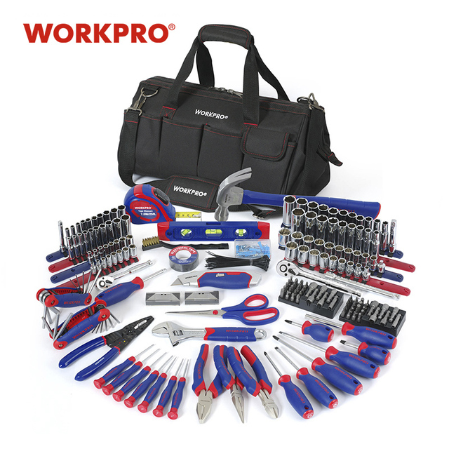 WORKPRO 322PC Tool Set Hand Tools Home Repair Tool With Tool Bag