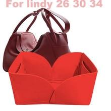 Için lindy 26 30 34-3MM keçe PIn sert çanta düzenleyici makyaj el çanta düzenleyici seyahat iç taşınabilir kozmetik orijinal organize çanta