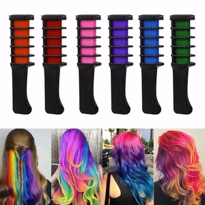Wholesale Professional 6 Colors Mini Disposable Personal Salon Use Temporary Hair Dye Comb Crayons Hair Dyeing Tool TSLM2(China)