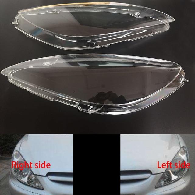 עבור פיג ו 307 2003 2004 2007 פנסים קדמי שקוף אהילי מנורת פגז מסכות פנסי כיסוי עדשת פנס זכוכית