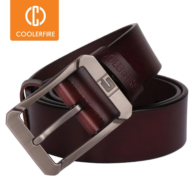 Coolerfire genuine leather belts for men brand male pin buckle jeans cowboy Mens Belt Luxury Designer High Quality Leather belt|leather belts for men|brand genuine leather beltgenuine leather belt - AliExpress