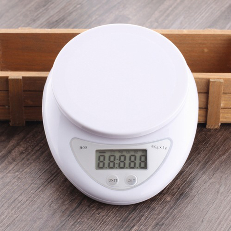 5KG/1G Backlight Digital Kitchen Scale High Precisio Electronic Scales Portable Hook Scales Kg Food Diet Weight Postal Balance|Kitchen Scales| |  -