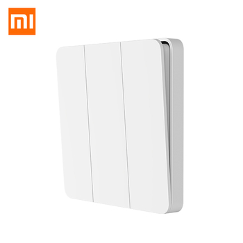 New Xiaomi Mijia Wall Switch Single Fire Wire No Neutral Dual Control Switch Compatiable with Smart Yeelight Light In Mihome APP