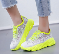 Breathable Ladies Casual shoes Anti-Slip Sport Walking Sneakers Women Lace-up Flats Running Shoes 35-41