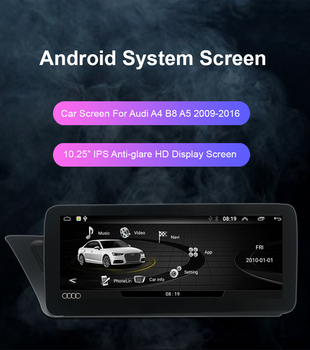 IPS Android 10 2 + 32GB WIFI RHD Car Multimedia Player GPS Navi Google BT Stereo Touch Screen for 2009-2016 Audi A4 A5 B8 image