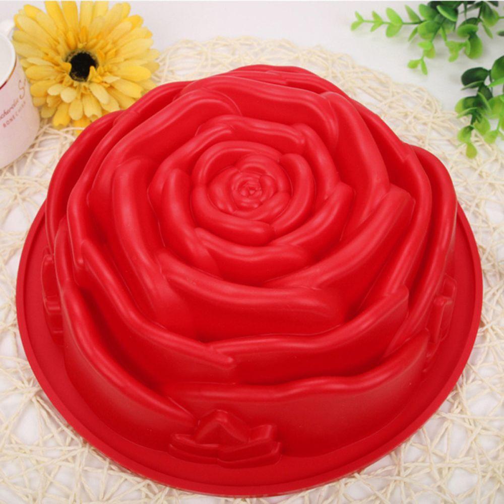 3D Fondant Silicone Rose Flower Cake Tin 1