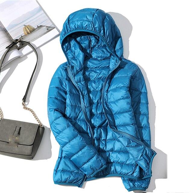 Blouson d'automne en duvet en velours pour femmes, blouson d'automne basique, manteaux à capuche en velours pour femmes, collection hiver 2020 5