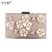 Women Flower Clutches Evening Bags Handbags Wedding Clutch Purse Designer Evening Hand Bag Lady Party Clutch Purse With Chain 2018 fashion evening bags gold silver clutch bag blue red evening clutch wedding bride clutches purse women bag mini handbags