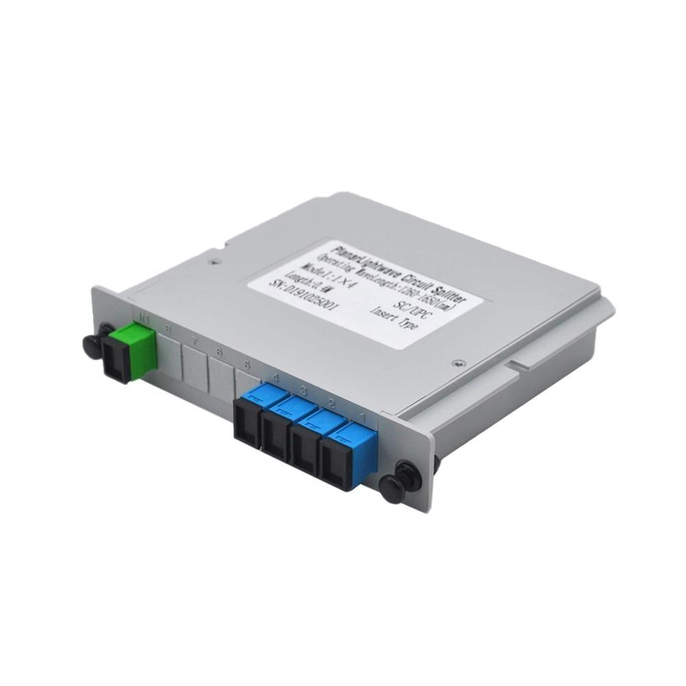 Free Shipping 5pcs/lot SC UPC 1X4 Fiber Optic FTTH Cassette Box Optical Coupler SC UPC PLC 1X4 Fiber Splitter Box