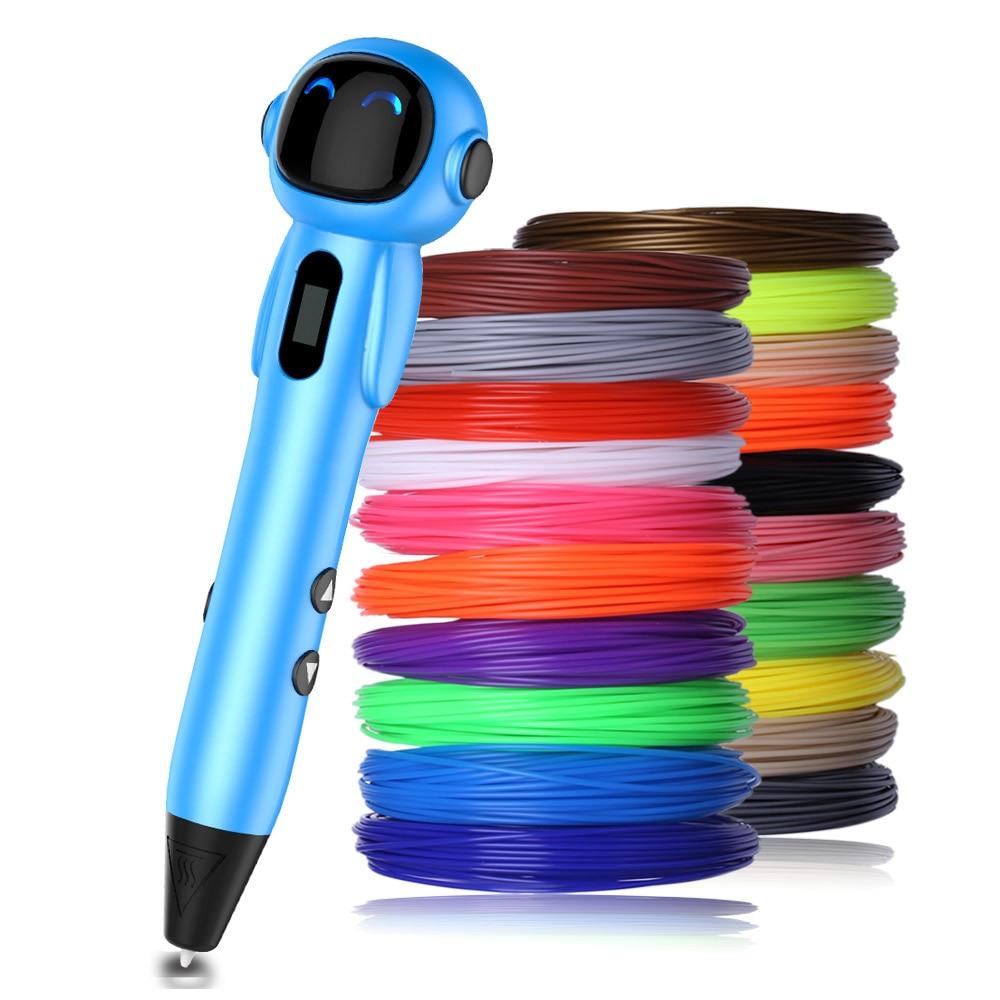 Nuevos bolígrafos de impresora 3d pen 3 d con filamento pla 3 d regalos originales USB caneta 3d lapiz 3d para niños regalos de navidad