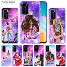 Fashion Woman Super Mom baby girl Case for Huawei P40 Pro+ P20 P30 Lite P20 Pro p10 p20 p30 P40 Lite P Smart Pro 2019 Cover marvel comic batman silicone case for huawei p40 pro p20 p30 lite p20 pro p10 p20 p30 p40 lite p smart pro 2019 cover
