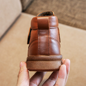 Image 5 - 2019 thu Giày trẻ em trẻ em giày bốt Martin đồng màu mới da bé nam và bé nữ giày ống thấp Hàn Quốc phiên bản của Hoang Dã