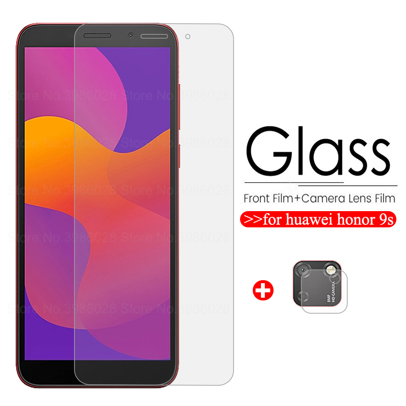 """2-in-1 Tempered Glass Honor 9s Glass Camera Screen Protector For Huawei Xonor 9s 9 S S9 Honor9s Dua-lx9 5.45"""" Protective Film 9h"""