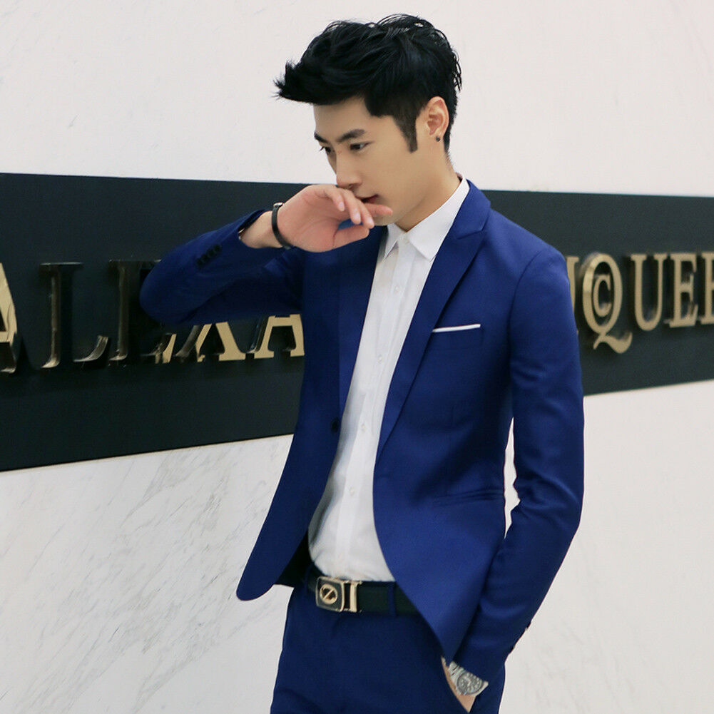 Fashion Brand New Hot Sales Mens Solid Color Classic Fashion Formal Business Suit Blazer Slim Fit Luxury Coat Jacket