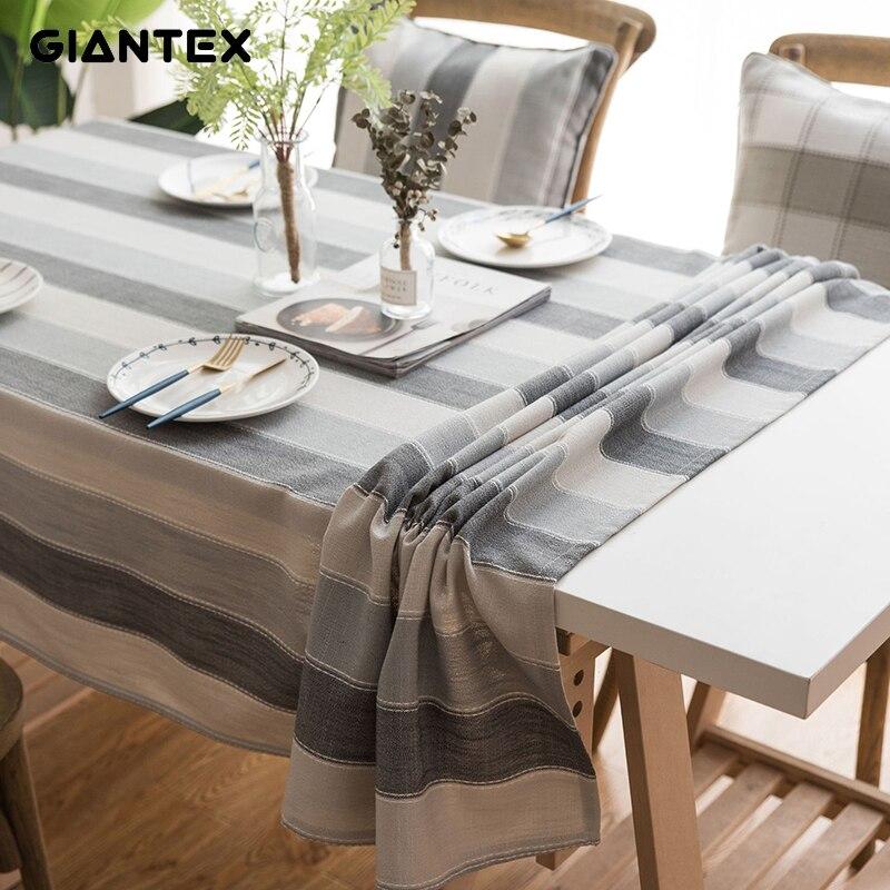 Giantex cozinha toalha de mesa à prova dwaterproof água toalha de mesa retangular toalhas de mesa de jantar capa de mesa obrus tafelkleed mantel mesa nappe