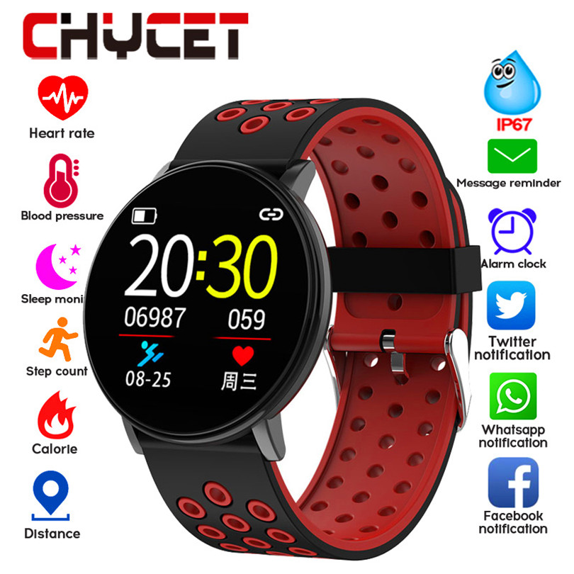 Smart Fitness Bracelet Blood Pressure Measurement Fitness Tracker Waterproof IP67 Smart Band Watch Heart Rate Monitor Pedometer image