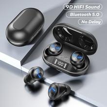 DODOCASE C6  Wireless Headphones Bluetooth 5.0 Earphones With Microphones 3000mAh Charging Box 9D Headsets Sport Earbuds
