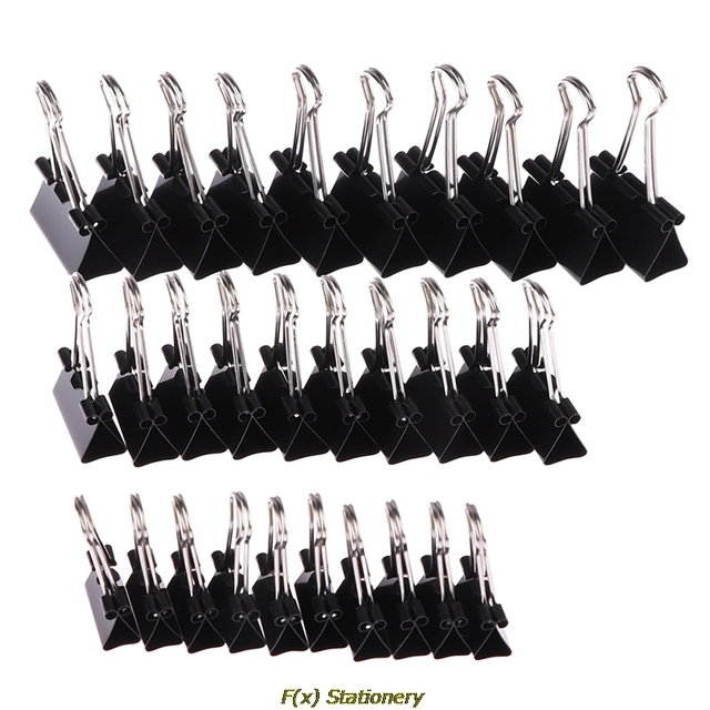 10pcs/lot Black Metal Binder Clips 19mm/ 25mm/ 32mm Notes Letter Paper Clip Office Supplies Binding Securing Clips