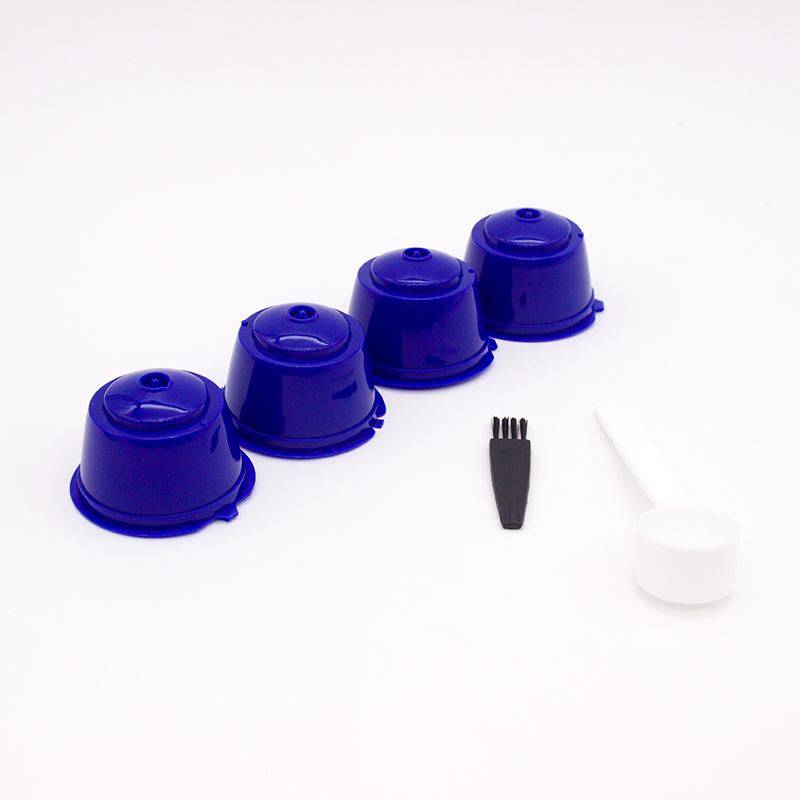 4pcs/Pack Reusable Nescafe Dolce Gusto Coffee Capsule Filter Cup Refillable Coffee Filter Baskets Pod Soft Taste Sweet