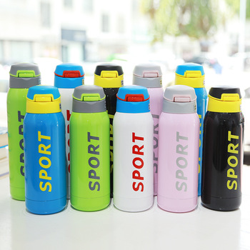 500ML Sport thermos water bottle Thermo Mug Stainless Steel Vacuum Flask mug with straw Insulation Thermoses thermal