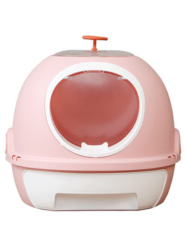 Cat sand-basin fully enclosed large spattery-proof extra  cat supplies sand-bowl sash-proof  toilet