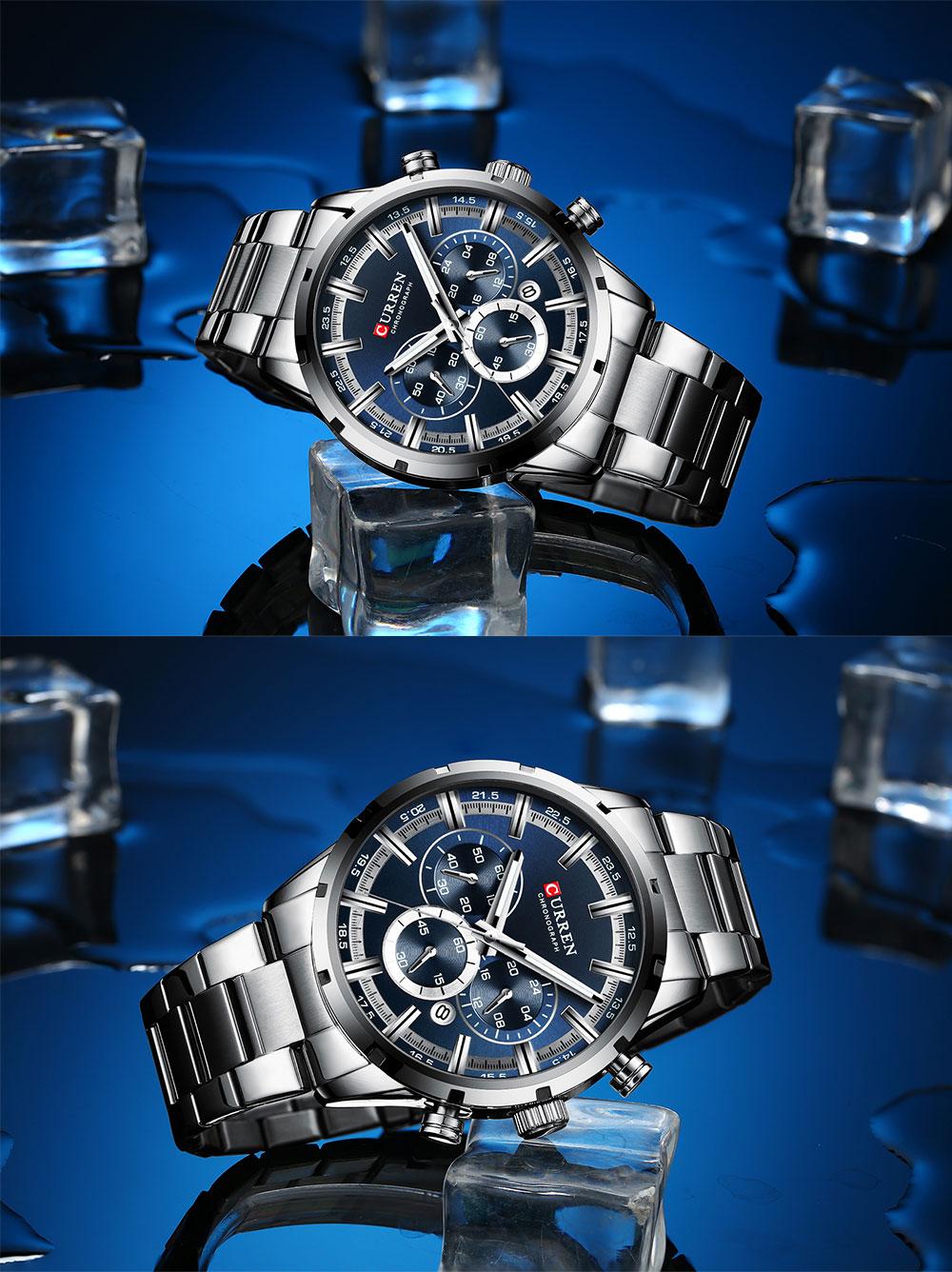 H7f8f8fbc2da94eeea62d3a3bc1530028v CURREN New Fashion Mens Watches Quartz Chronograph