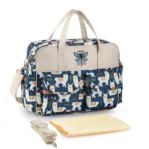 Image 1 - New Print Diaper Bag Waterproof Large Capacity Baby Bags for Mom Multifunction Stroller Maternity Bag Baby Care 10 Colors