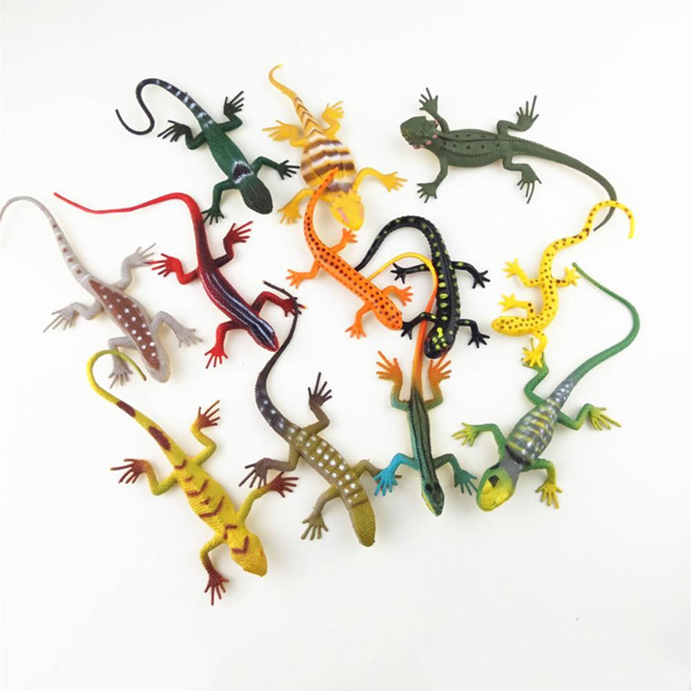 12Pcs Mini Simulation Lizard Gecko Animal Model Magic Trick Kids Education Toy New