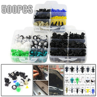 Universal 500pcs Mixed Auto Fasteners Clips Car Bumper Retainer Car Fastener Rivet Door Panel Fender Liner Roof Trunk with Box