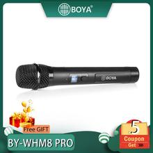 BOYA BY-WHM8 Pro Microphone for karaoke interview speech music recording stage 48-Channel UHF Wireless Handheld Dynamic Mic oxlasers high quality 2 4g usb wireless dynamic microphone for conference teacher and speech mic free shipping