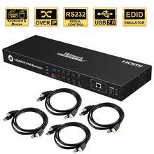 Commutateur USB HDMI KVM commutateur Lan 8 ports KVM 8 ports KVM prise en charge du commutateur 4K 30Hz Port clavier et souris Ultra HD USB 2.0