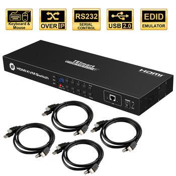 USB HDMI KVM Switch 8 Port Lan switch KVM 8 port KVM Switch Support 4K 30Hz Ultra HD Keyboard and mouse port IR remote  USB 2.0 кабель kvm lenovo 3m msas hd to msas hd 00mj180