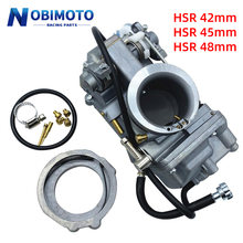 Carburador da motocicleta hsr42 hsr45 hsr48 mikuni 4t desempenho bomba de acelerador pumper carburador carb para harley tm48 tm45 tm42